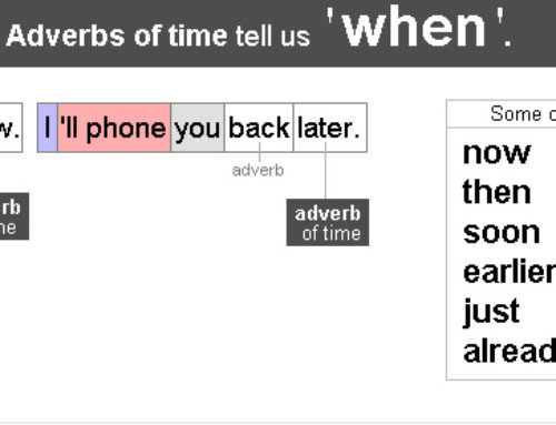 Adverb of time 1