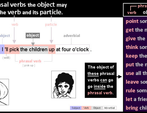 Object 6: objects in phrasal verbs