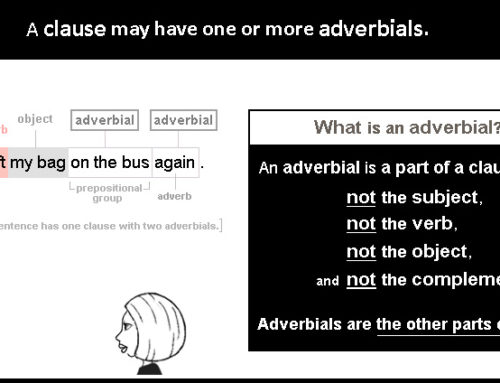 Adverbial 1 – what is an adverbial?