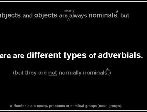 Adverbial 4 – different types of adverbials