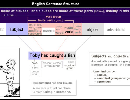English Sentence Structure 3 – Subject – verb – object