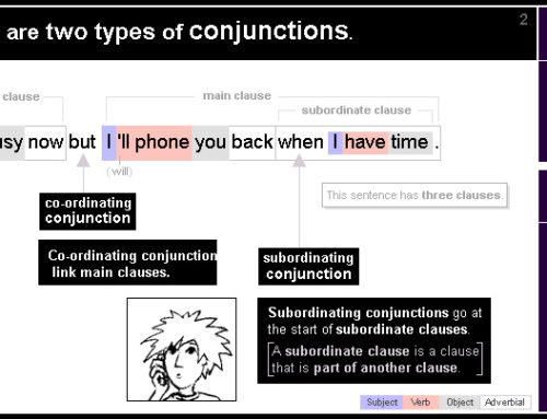 2 Co-ordinating conjunctions and subordinating conjunctions